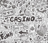 Seamless casino pattern — Stockvektor