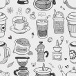 Seamless coffee pattern — Stock Vector #28958121
