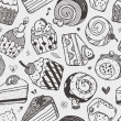 Seamless cake pattern — Stock Vector #29023775