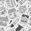 Seamless house pattern — Stock vektor