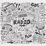Doodle radio elements — Stock Vector