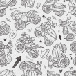 Seamless motorcycle pattern — Stock Vector #29608877