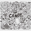 Stock Vector: Doodle candy elements
