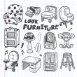 Doodle Furniture icons — Stock Vector #30228839