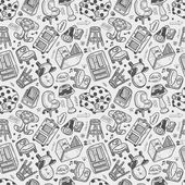 Seamless furniture pattern — Stock Vector