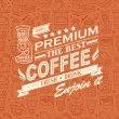 Cтоковый вектор: Retro Vintage Coffee Background with Typography