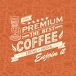 Retro Vintage Coffee Background with Typography — Stock Vector