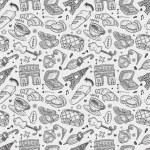 Doodle Paris pattern — Stock Vector
