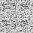 Doodle school background — Imagen vectorial