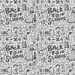 Doodle school background — Stock Vector