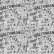 Halloween holiday doodle background — Stock Vector