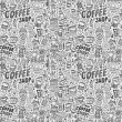 Seamless doodle coffee pattern background — Stock Vector