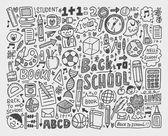 Hand draw doodle school element — Vetor de Stock