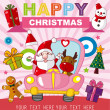 Christmas and New Year card — Stock Vector