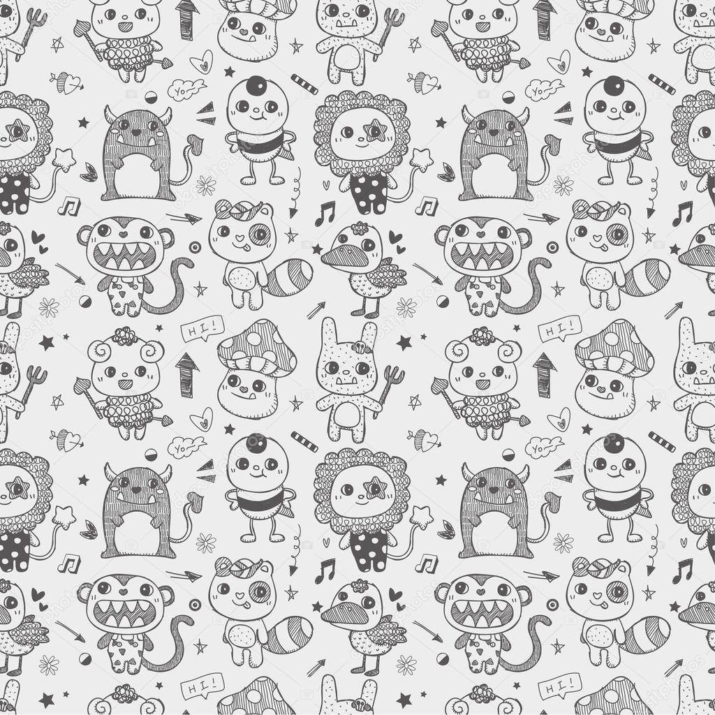 Cute Monster Doodles Tumblr Related Keywords & Suggestions - Cute ...