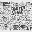 Stock Vector: Doodle space element
