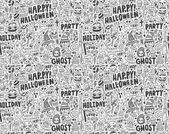 Seamless doodle halloween holiday background — Stock Vector
