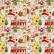Seamless Christmas pattern background — Stock Vector