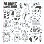 Doodle Christmas icon set — Stock Vector