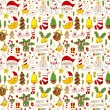 Stock Vector: Seamless Christmas pattern background