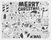 Doodle Christmas background — Stock Vector