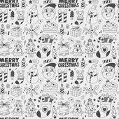 Padrão de natal sem costura doodle — Vetorial Stock
