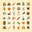 Medical icons set. — Imagen vectorial