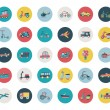 Set of flat transport icons — Stock Vector
