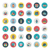 Set of flat house icons — Stock Vector