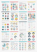 Infographic Elements.Big chart set icon. — Stock Vector