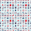 Seamless retro web pattern — Image vectorielle
