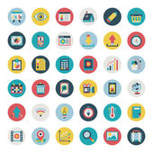 Retro flat icon set — Stock Vector