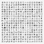 324 Vector Doodle Web Icons — Vector de stock