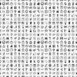 Seamless 100 doodle business pattern — ストックベクター #36141141