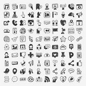 Doodle Social media elements — Stockvektor