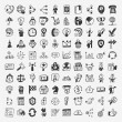 100 doodle business icon — Vetorial Stock #36480655