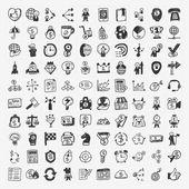 100 icon negócio doodle — Vetorial Stock