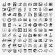 Doodle media icons set — Stock Vector #36742757