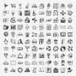 Doodle travel icons set — Stockvectorbeeld