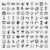 Doodle business ikonen — Stockvektor