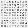 Doodle music icons set — Stock Vector