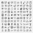 Stock Vector: Doodle shopping icons set