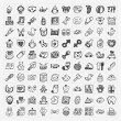 Doodle baby icon sets — Stock Vector