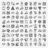 Doodle logistics icons set — Stock Vector