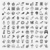 Doodle gardening icon — Stock Vector