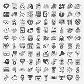 Doodle Valentine's Day icon — Stock Vector