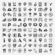 Doodle map GPS Location icons set — Stock Vector #39994859