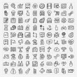 Doodle web icons set — Stock Vector