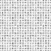 Seamless doodle communication pattern — Stock Vector