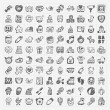 Doodle baby icon sets — Stock Vector #42758817